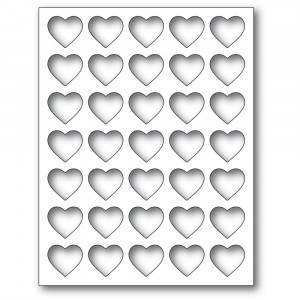 Poppy Stamps Stanzschablone - Grid Heart Frame