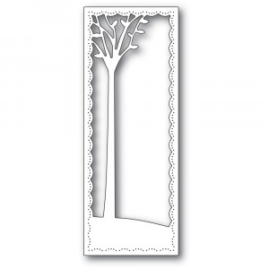 Poppy Stamps Stanzschablone - Tall Skyline Tree Frame