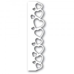 Poppy Stamps Stanzschablone - Samba Heart Border