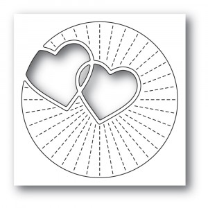 Poppy Stamps Stanzschablone - Twinkling Hearts