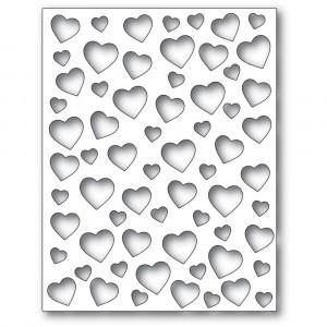 Poppy Stamps Stanzschablone - Confetti Heart Plate