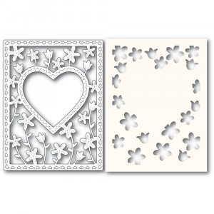 Poppy Stamps Stanzschablone - Meadowblossom Frame and Stencil