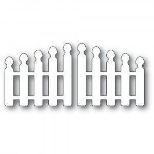 Poppy Stamps Stanzschablone - Pointy Picket Double Gate