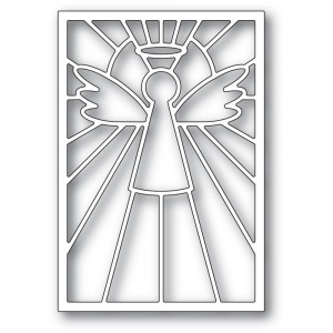 Poppy Stamps Stanzschablone - Stained Glass Angel