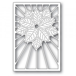 Poppy Stamps Stanzschablone - Stained Glass Poinsettia