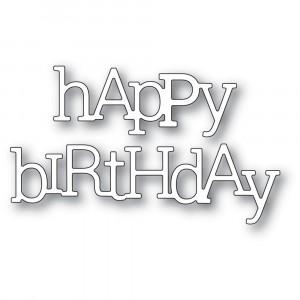 Poppy Stamps Stanzschablone - Playful Happy Birthday