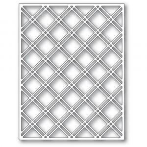 Poppy Stamps Stanzschablone - Double Diamond Lattice Plate