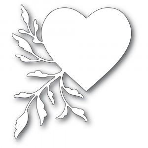 Poppy Stamps Stanzschablone - Leaf Flourish Heart