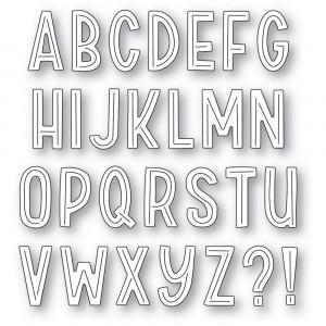 Poppy Stamps Stanzschablone - Marzipan Alphabet