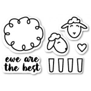 Poppy Stamps Stempel-Set - Ewe Are the Best Clear Stamp Set