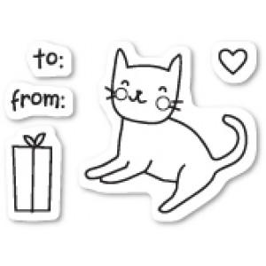 Poppy Stamps Stempel-Set - Kitty Cat Gift