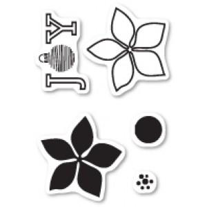Poppy Stamps Stempel-Set - Poinsettia Joy