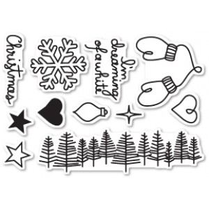 Poppy Stamps Stempel-Set - Dreaming of a White Christmas