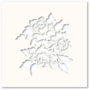Poppy Stamps Template - Romantic Blooms Stencil