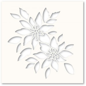 Poppy Stamps Template - Bright Blossoms Stencil