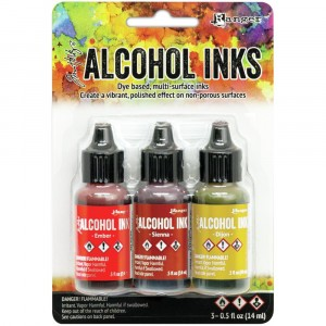 Adirondack Alcohol Inks - 3er Set Orange/Yellow Spectrum