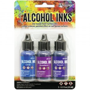 Adirondack Alcohol Inks - 3er Set Indigo/Violet Spectrum