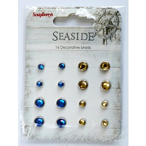Scrapberry's Strass-Brads - Seaside Blau & Gold