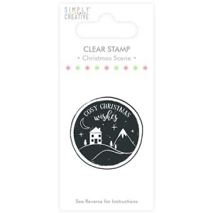 Simply Creative Christmas Scene Clear Stamp