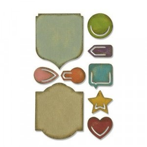 Sizzix Sidekick Stanzschablonen-Set - Tim Holtz Noted