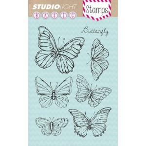 Studio Light Clear Stamps - 6 Schmetterlinge
