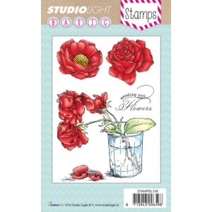 Studio Light Clear Stamps - Rosen in Vase