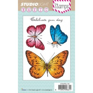 Studio Light Clear Stamps - 3 Schmetterlinge