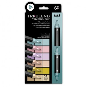 Spectrum Noir TriBlend Markers - Vintage Blends