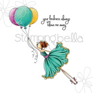 Stamping Bella Cling Stamps - Uptown Girl Bentley Gets Blown Away