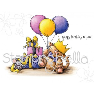 Stamping Bella Cling Stamps - Sanford The Birthday Stuffie