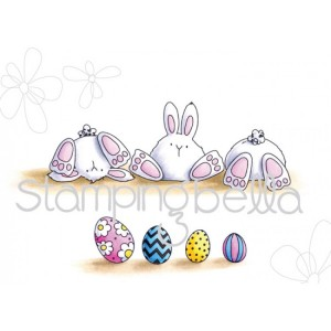Stamping Bella Cling Stamps - Row Of Bunny Wobbles