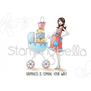 Stamping Bella Cling Stamps - Baby Carriage Bella
