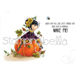 Stamping Bella Cling Stamps - Tiny Townie Patricia Loves Pumpkins