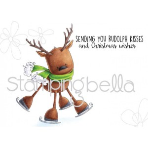 Stamping Bella Cling Stamps - Rudolph The Skating Reindeer