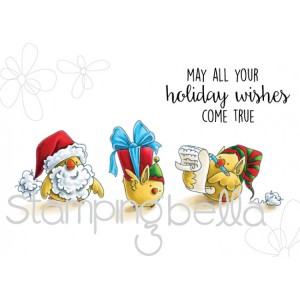 Stamping Bella Cling Stamps - Santa Chick & Helpers