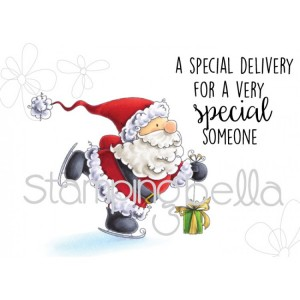 Stamping Bella Cling Stamps - Santas Speed Delivery