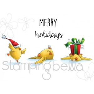 Stamping Bella Cling Stamps - Skating Chicks