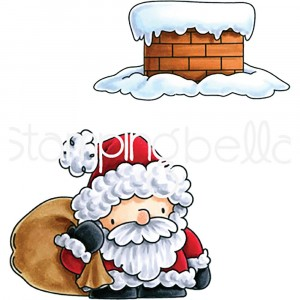 Stamping Bella Cling Stamps - Santa And His Chimney