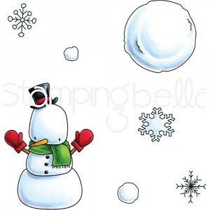 Stamping Bella Cling Stamps - Snowman Set