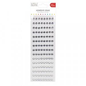 Simply Creative Strass-Steine 10mm klar - 120 Stück