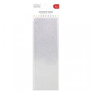 Simply Creative Strass-Steine 3mm klar - 1080 Stück