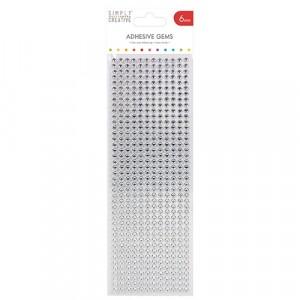 Simply Creative Strass-Steine 6mm klar - 504 Stück