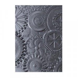 Sizzix 3D Embossing Folder Prägeschablone - Mechanics