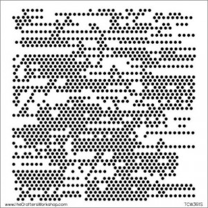 """Crafter's Workshop Template 6""""X6"""" - Tiny Circles"""