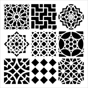 "Crafter's Workshop Template 6""X6"" - Moroccan Tiles"