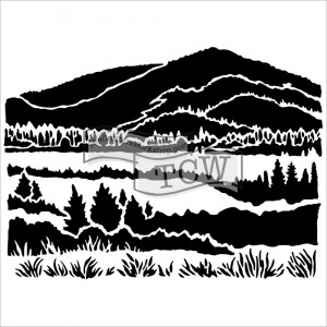 "Crafter's Workshop Template 6""X6"" - Mountain View"