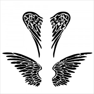 Crafter's Workshop Template 6x6 - Angel Wings
