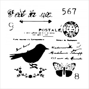 "Crafter's Workshop Template 6""X6"" - Chickadee Post"