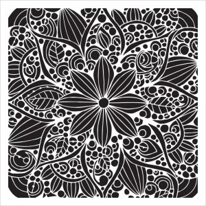 "Crafter's Workshop Template 6""X6"" - Doodle Bloom"