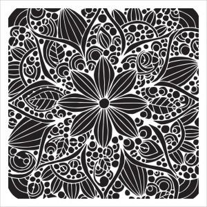 Crafter's Workshop Template 6X6 - Doodle Bloom